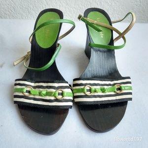 Kate Spade Wedge Heel Sandals Size 6
